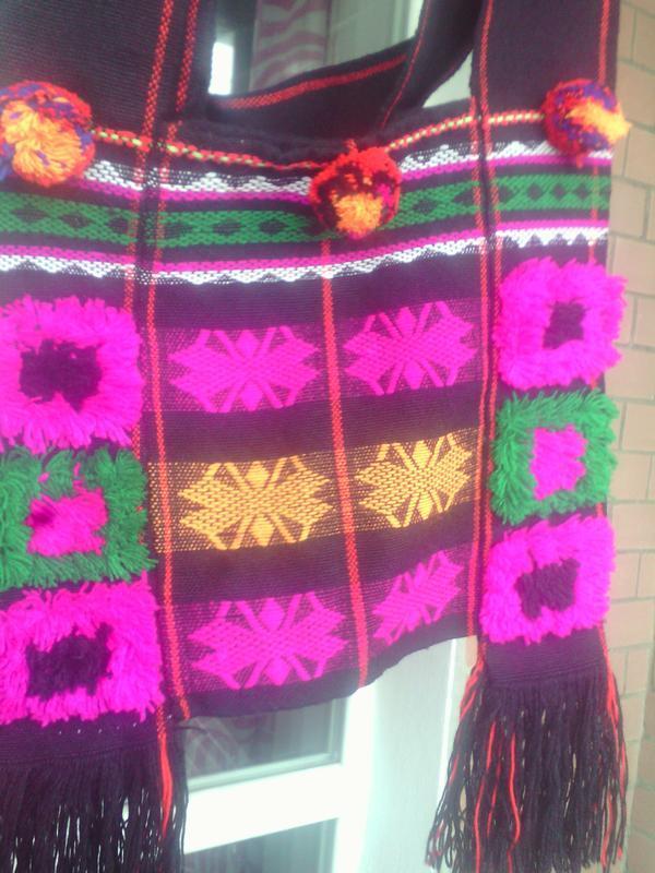 Обладенно красивая тканевая сумка, модная фуксия,  в стиле бохо