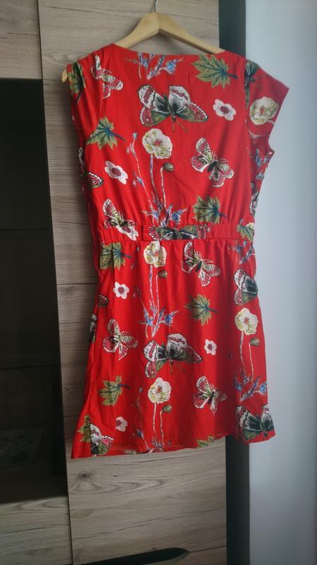 💥1+1=3💥красное платье с бабочками - Фото 2