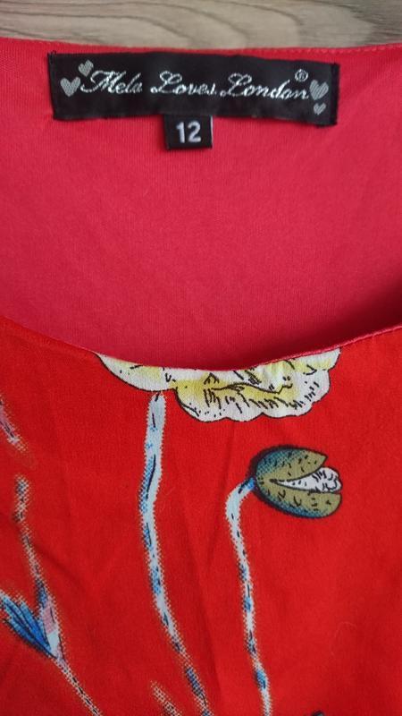 💥1+1=3💥красное платье с бабочками - Фото 3