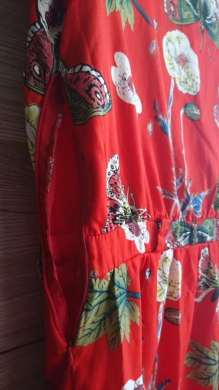 💥1+1=3💥красное платье с бабочками - Фото 5