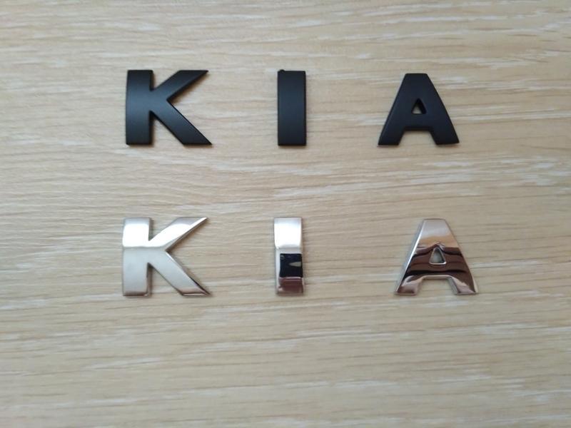 Металлические буквы KIA на кузов авто