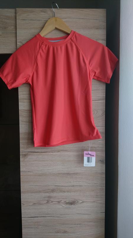 Коралловая футболка teens&tens на 9-10 лет❤️