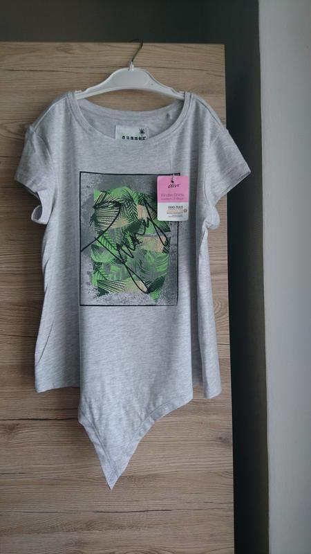 Актуальная серая футболка на завязках alive 10лет