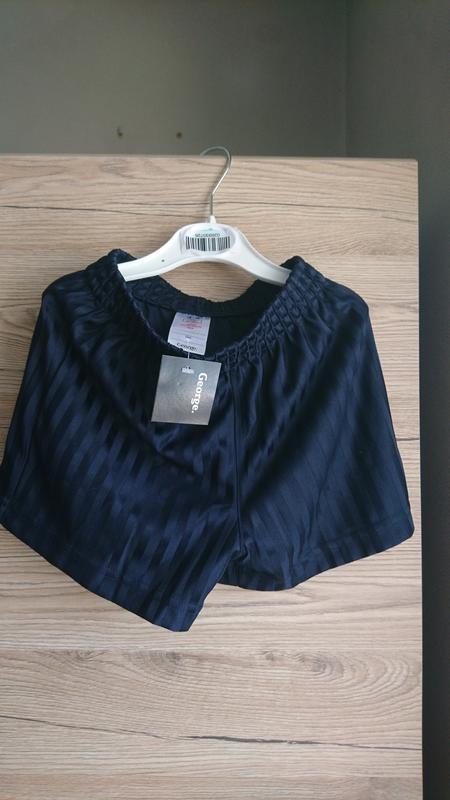 Стильные чёрные шорты george на 3-4 года