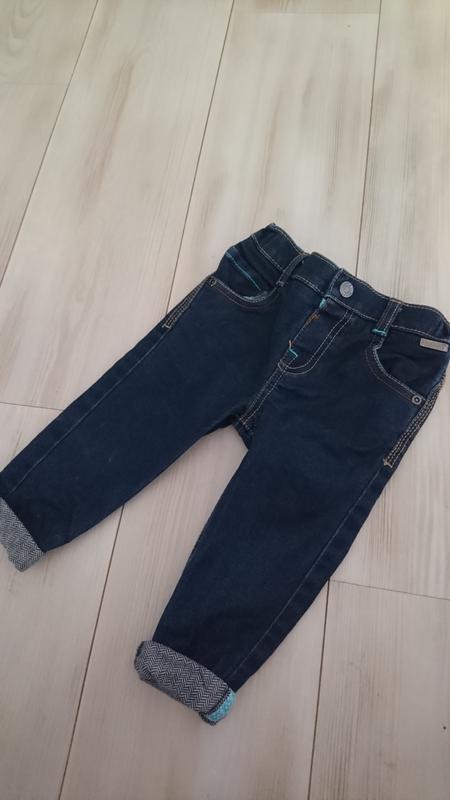 Мега крутые  синие джинсы baker  на 9-12 мес