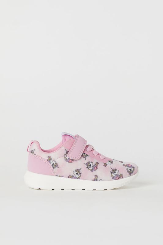 Розовые кроссовки с единорогами h&m 27 размер