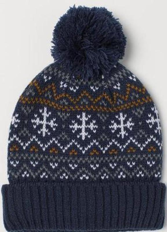 Новая стильная шапка для мальчика h&m 92-104 см