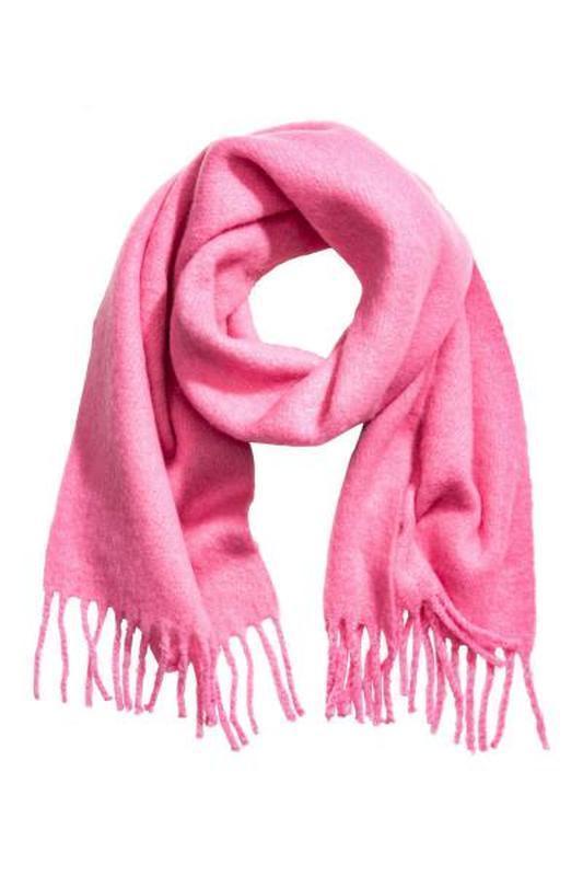 Шарф из плотной ткани с начесом розового цвета h&m