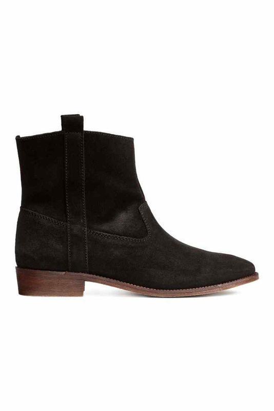 Замшевые ботиночки черного цвета h&m