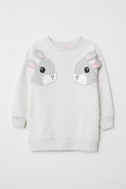 Стильный свитшот bunny h&m на 122-128 см