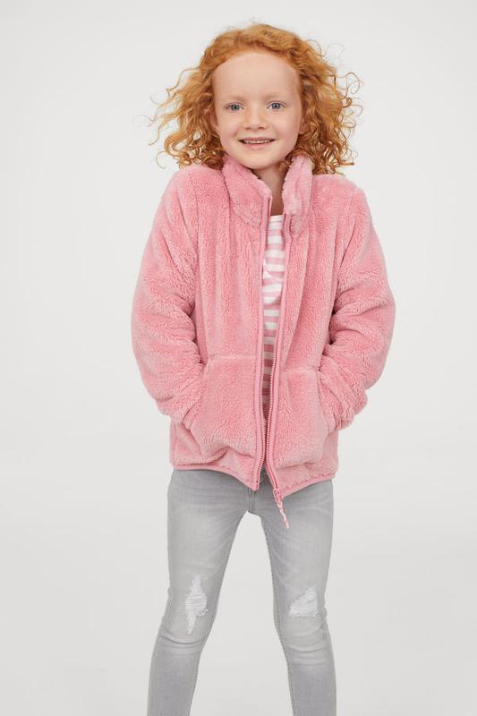 Теплая кофта-плюшка розового цвета h&m