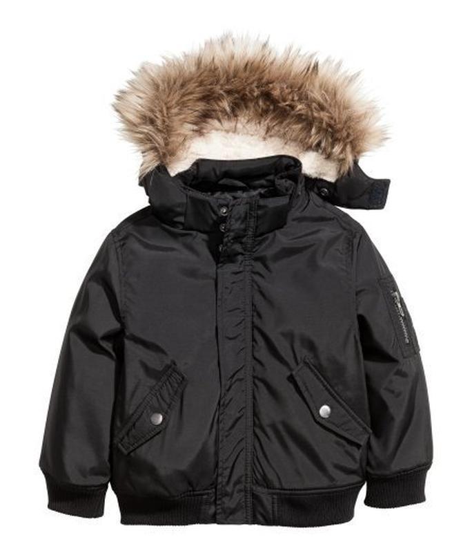 Демисезонная куртка черного цвета h&m