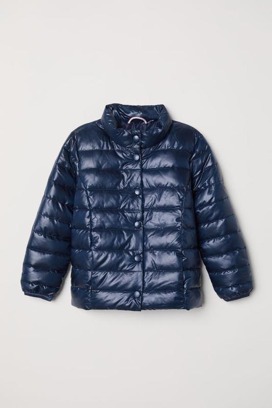 Стильная демисезонная куртка синего цвета h&m