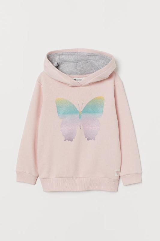 Стильный худи с бабочкой h&m