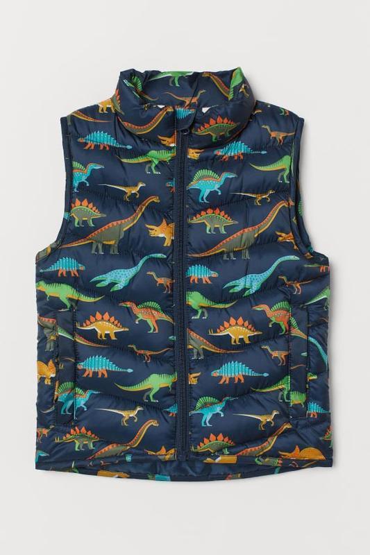 Стильная жилетка с принтом dino динозавров от h&m