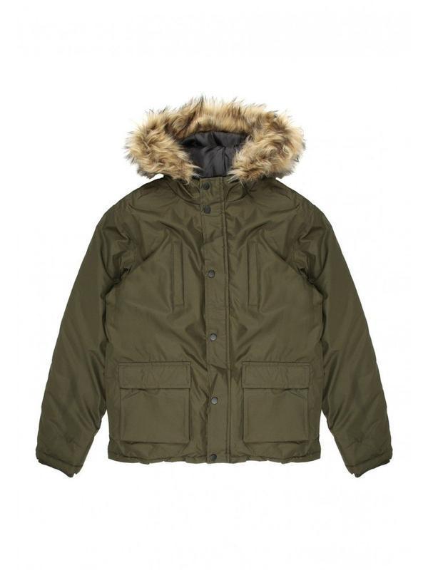 Стильная демисезонная куртка peacocks  цвета хаки на 7-8 лет