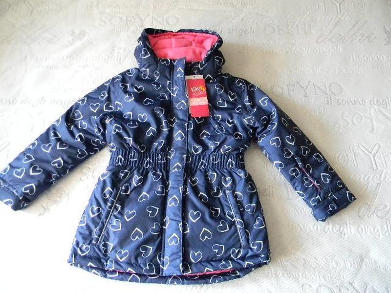 Зимняя термокуртка  в сердечки kiki&koko на 6-7 лет.( р. 116-1... - Фото 5