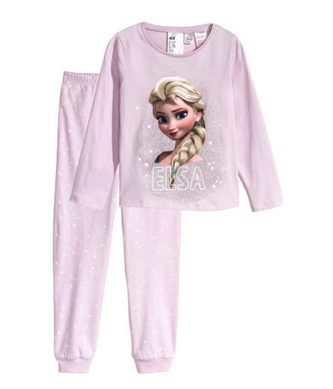 Стильная пижама на девочку elsa h&m
