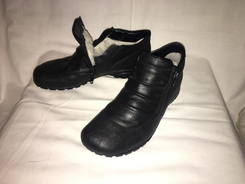 Ботинки утеплены * rieker* натуральный мех германия р.38( 25.0...
