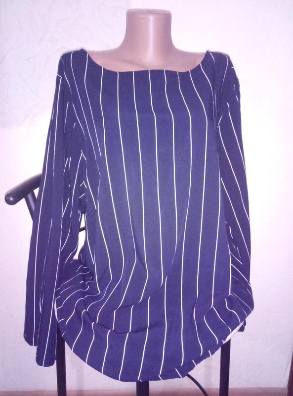 Красивая ассиметричная блузка большой размер батал от  xlnt