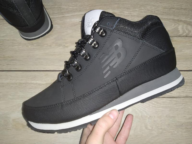 Зимние ботинки new balance 754 кожа зимові мужские кроссовки