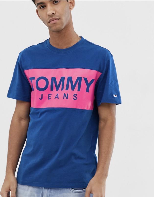Футболка TOMMY JEANS с лого на груди ! - Фото 3