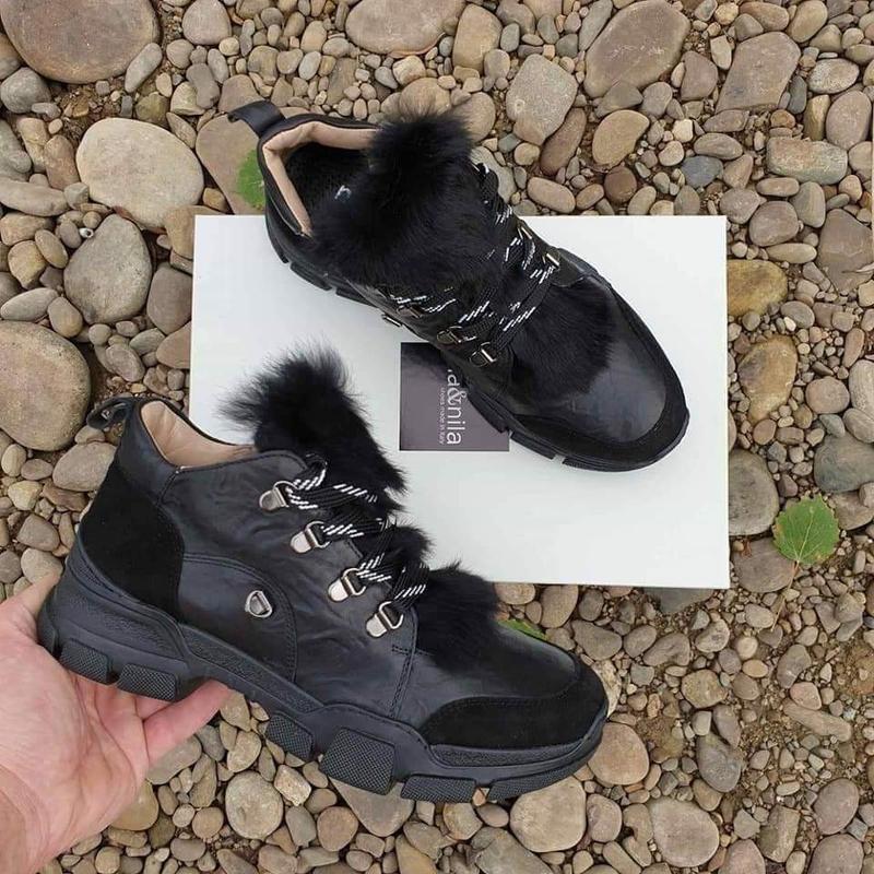 Фирменные кроссовки с натур мехом оригинал