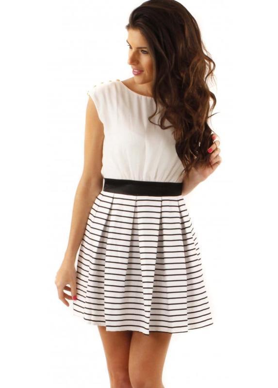Новое красивое стильное платье little mistress в морском стиле...