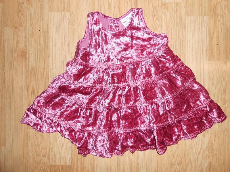 Платье нарядное  на малышку 3-6 мес