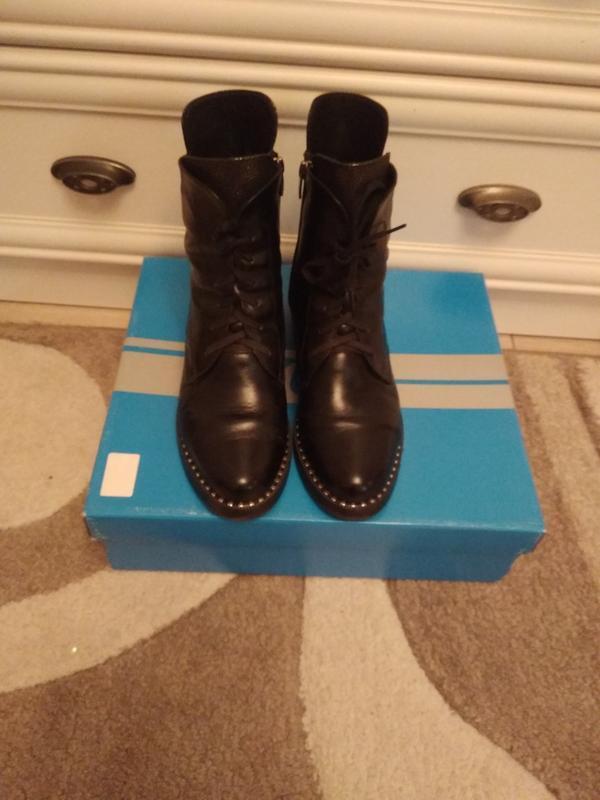 Зимние ботинки, кожаные.