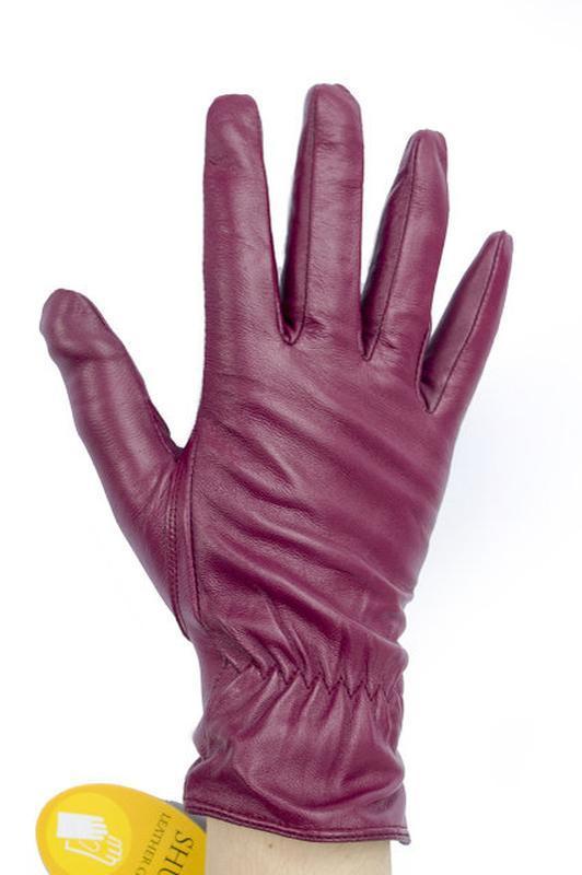 Кожаные перчатки в оригинальном цвете - Фото 2
