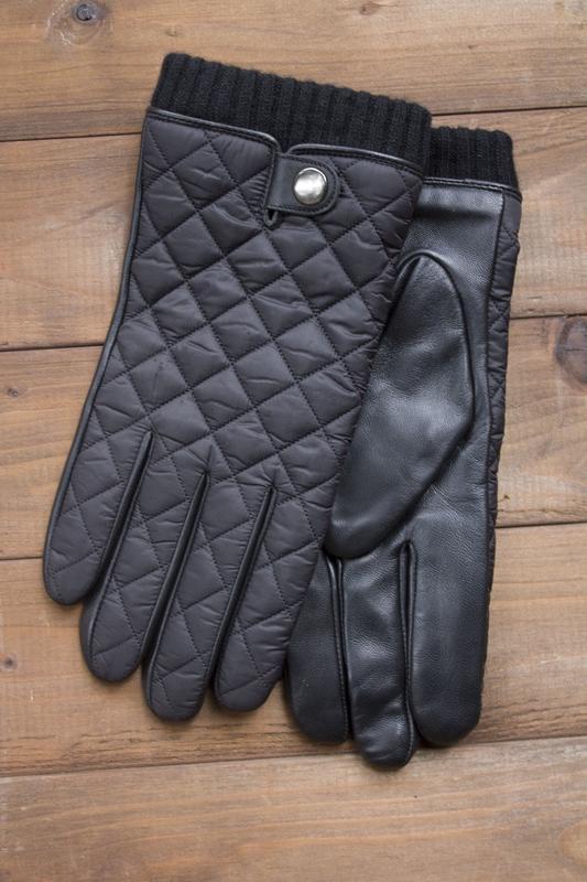 Мужские кожаные сенсорные перчатки из очень качественной кожи