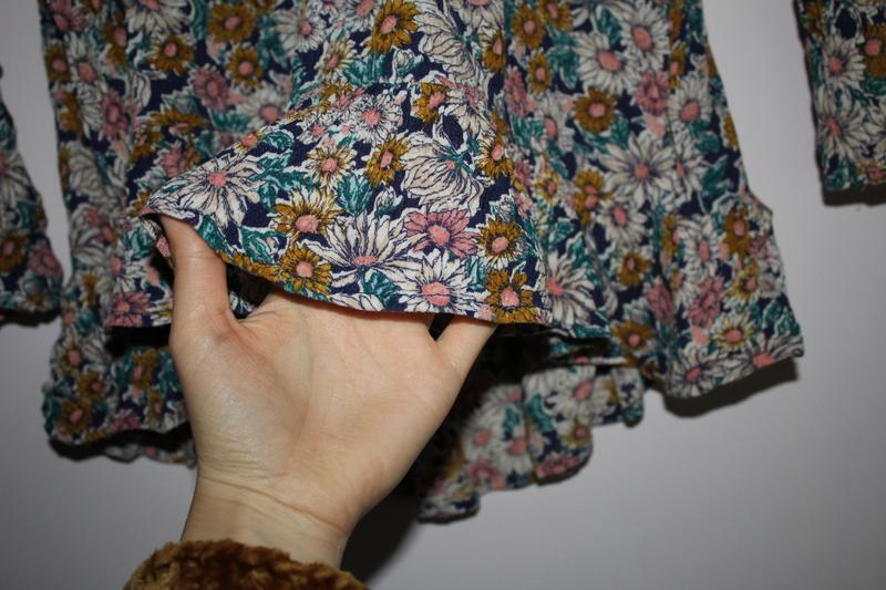Кроп топ в квіти, футболка, укороченный  топ - Фото 4