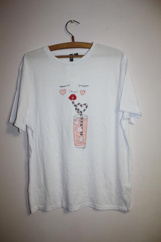 Футболка удлиненная белая футболка оверсайз