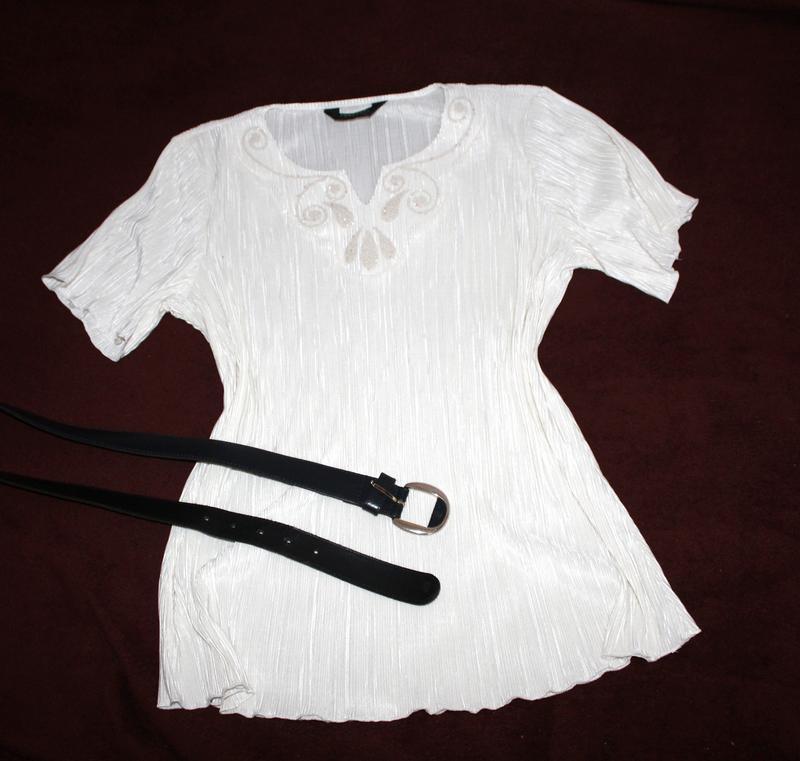 Нарядна блуза футболка нарядная блуза плиссе / плиссерованная - Фото 2