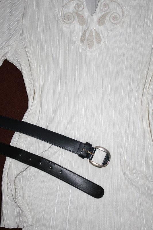 Нарядна блуза футболка нарядная блуза плиссе / плиссерованная - Фото 3