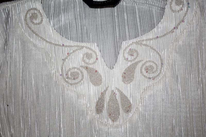 Нарядна блуза футболка нарядная блуза плиссе / плиссерованная - Фото 4