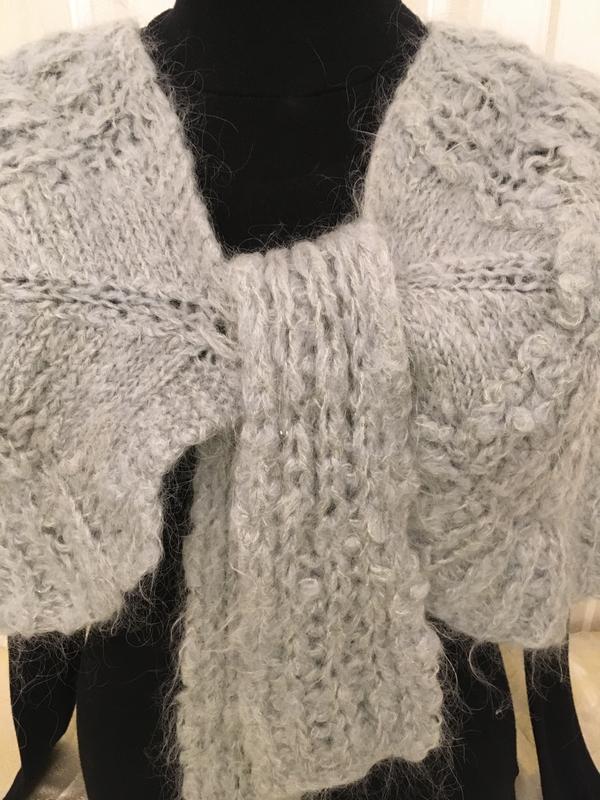Мохер шерсть /манишка /шарф/платок /шаль/ супер теплая и красивая - Фото 4