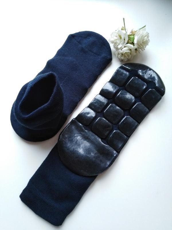 Домашние носочки со стопперами, антискользящие, внутри махра