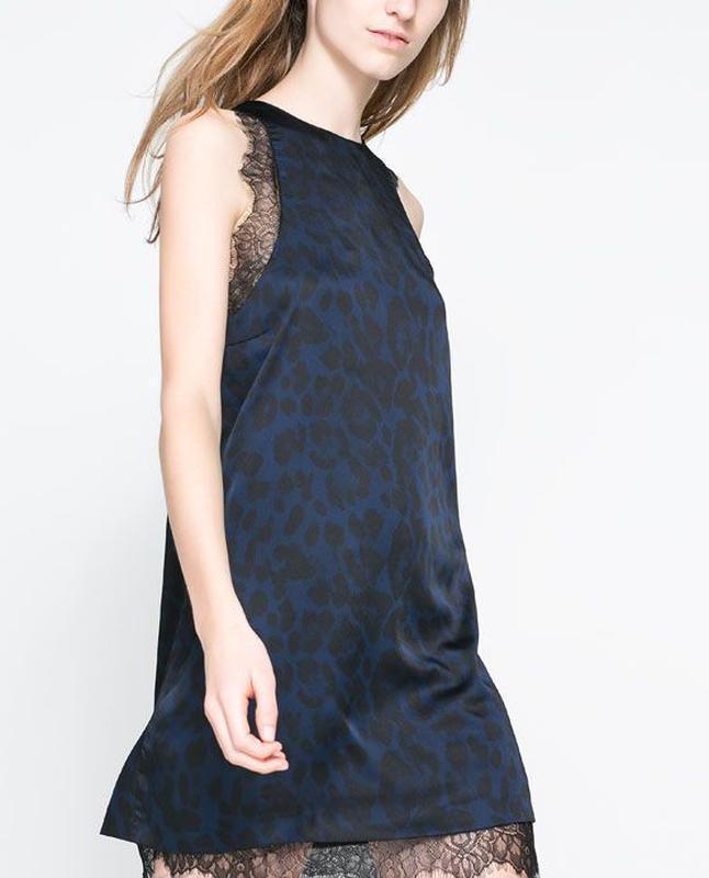 Платье вечернее с французским кружевом zara 12 размер