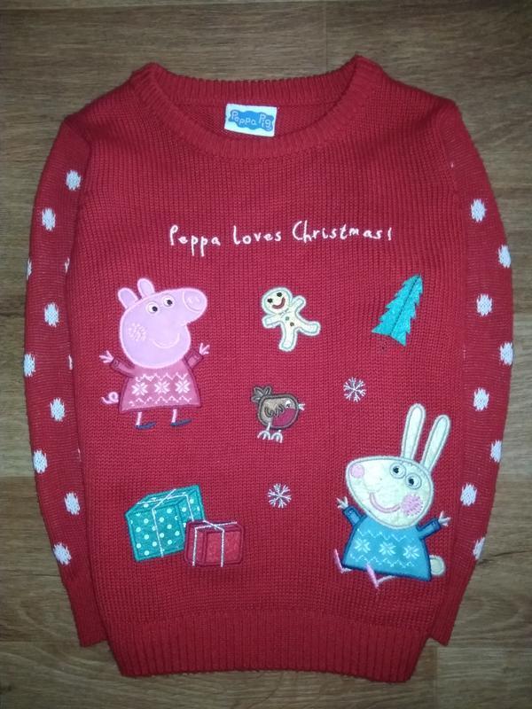 Новогодний свитер свинка пеппа