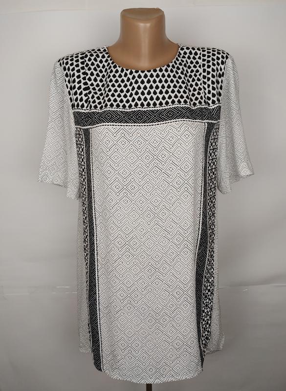 Блуза вискозная красивая в орнамент h&m uk 12/40/m