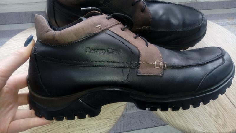 Утепленные кожаные! ботинки cesare cave