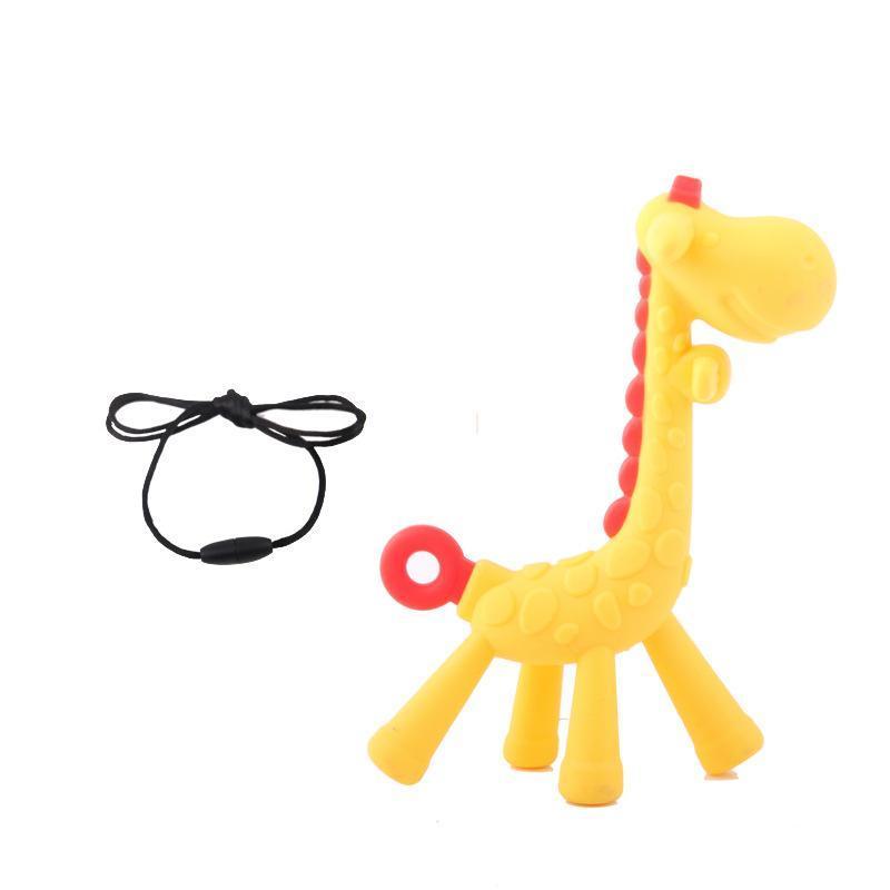 12-28 прорезыватель силиконовый жираф грызунок для молочных зу...