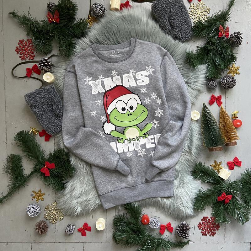 Новогодний рождественский свитшот толстовка свитер джемпер №38