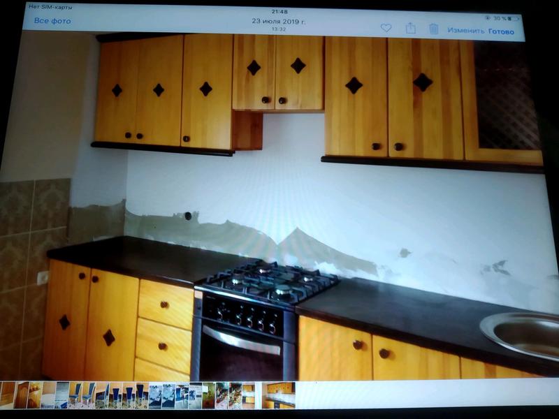 Кухня из массива сосны.