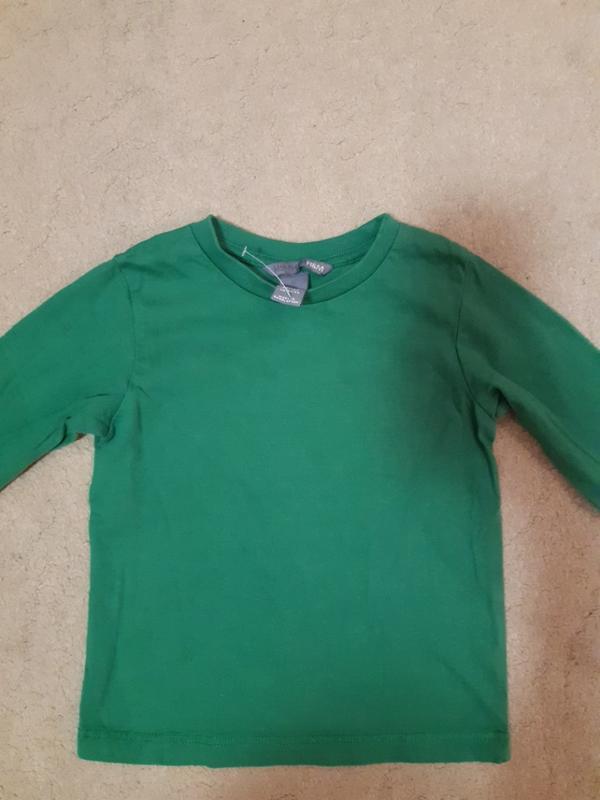 Футболка на мальчика зелёная размер 86-92