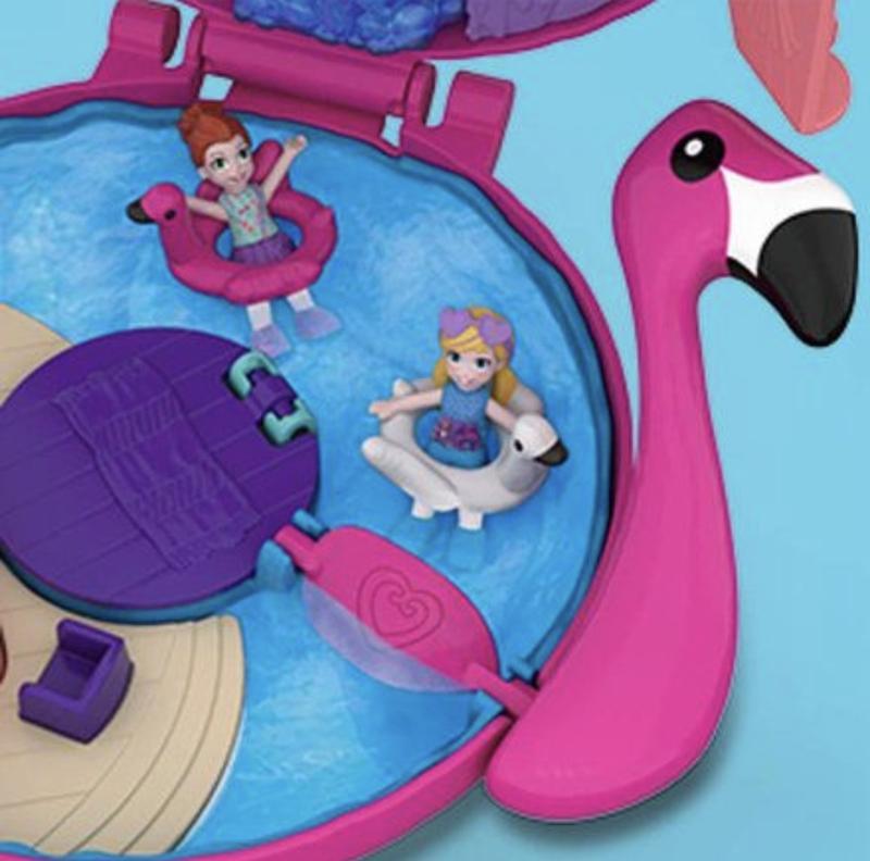 Полли Покет Розовый фламинго Polly Pocket World Flamingo от Matte