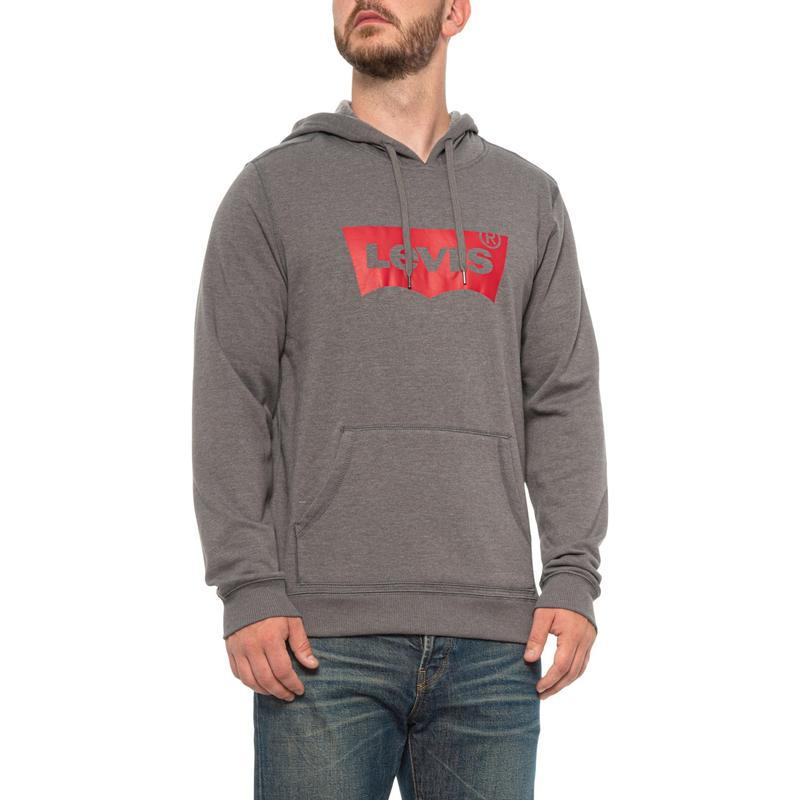 Levi's charcoal dallas fashion wing fleece hoodie худи на флис...