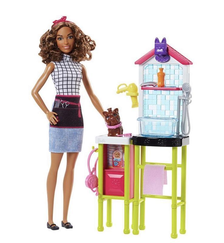 набор кукла Барби и парикмахерская для песиков Barbie Pet Groomer